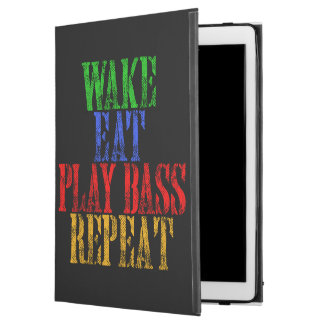 "Wake Eat PLAY BASS Repeat iPad Pro 12.9"" Case"