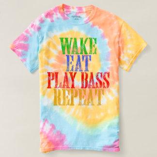 Wake Eat PLAY BASS Repeat T-shirt