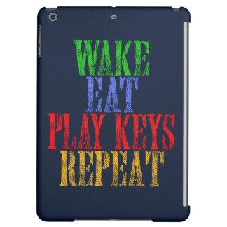 Wake Eat PLAY KEYS Repeat Case For iPad Air