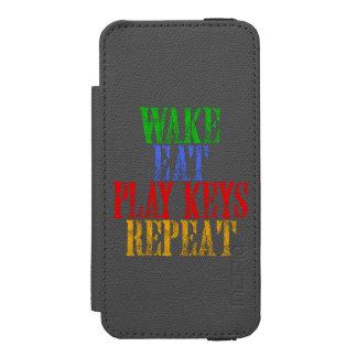 Wake Eat PLAY KEYS Repeat Incipio Watson™ iPhone 5 Wallet Case
