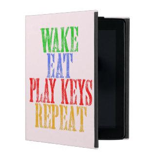 Wake Eat PLAY KEYS Repeat iPad Case