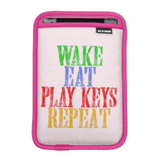 Wake Eat PLAY KEYS Repeat iPad Mini Sleeve