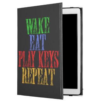 "Wake Eat PLAY KEYS Repeat iPad Pro 12.9"" Case"