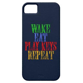 Wake Eat PLAY KEYS Repeat iPhone 5 Case