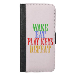 Wake Eat PLAY KEYS Repeat iPhone 6/6s Plus Wallet Case