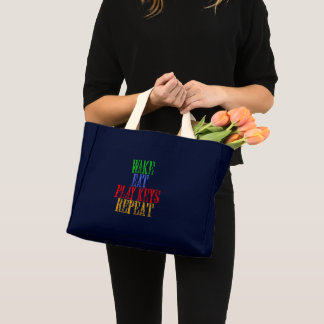 Wake Eat PLAY KEYS Repeat Mini Tote Bag