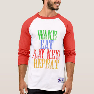 Wake Eat PLAY KEYS Repeat T-Shirt