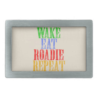 Wake Eat ROADIE Repeat Rectangular Belt Buckle