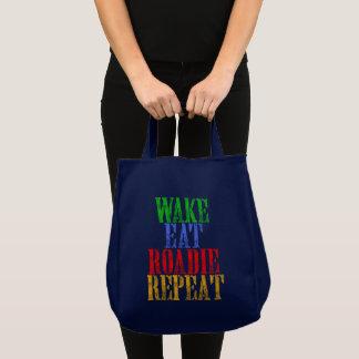 Wake Eat ROADIE Repeat Tote Bag