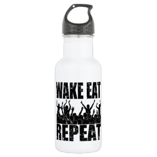 WAKE EAT ROCK REPEAT #2 (blk) 532 Ml Water Bottle