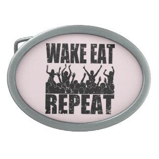 WAKE EAT ROCK REPEAT #2 (blk) Belt Buckles