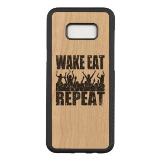 WAKE EAT ROCK REPEAT #2 (blk) Carved Samsung Galaxy S8+ Case