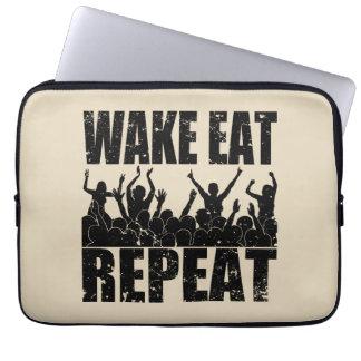 WAKE EAT ROCK REPEAT #2 (blk) Computer Sleeve