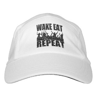 WAKE EAT ROCK REPEAT #2 (blk) Headsweats Hat
