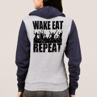 WAKE EAT ROCK REPEAT #2 (blk) Hoodie