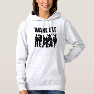 WAKE EAT ROCK REPEAT #2 (blk) Hoodie