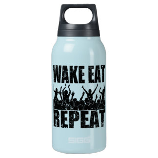 WAKE EAT ROCK REPEAT #2 (blk) Insulated Water Bottle