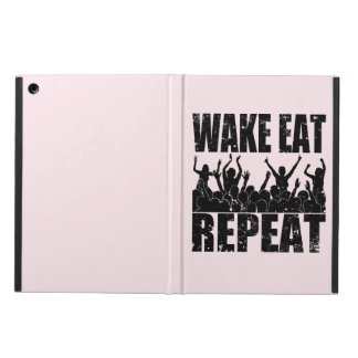 WAKE EAT ROCK REPEAT #2 (blk) iPad Air Cover