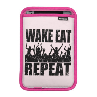 WAKE EAT ROCK REPEAT #2 (blk) iPad Mini Sleeve