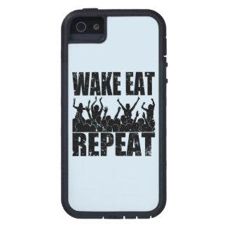 WAKE EAT ROCK REPEAT #2 (blk) iPhone 5 Covers