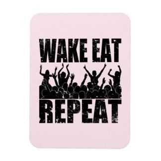 WAKE EAT ROCK REPEAT #2 (blk) Rectangular Photo Magnet