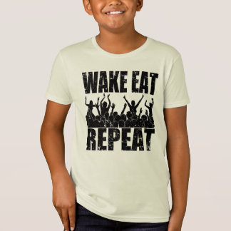 WAKE EAT ROCK REPEAT #2 (blk) T-Shirt