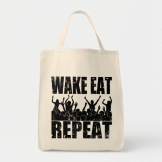 WAKE EAT ROCK REPEAT #2 (blk) Tote Bag