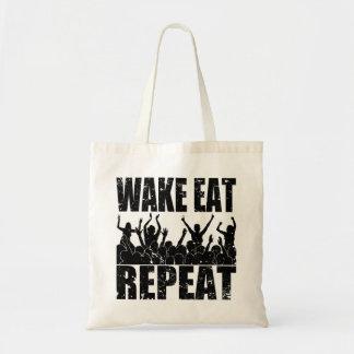 WAKE EAT ROCK REPEAT #2 (blk) Tote Bag