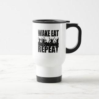 WAKE EAT ROCK REPEAT #2 (blk) Travel Mug