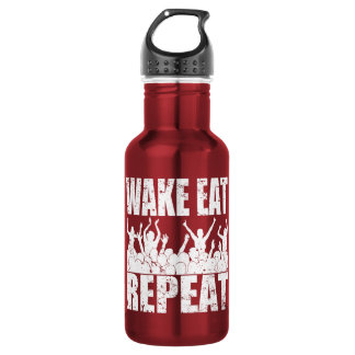 WAKE EAT ROCK REPEAT #2 (wht) 532 Ml Water Bottle