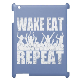 WAKE EAT ROCK REPEAT #2 (wht) Case For The iPad 2 3 4