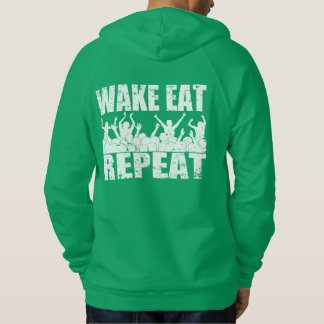 WAKE EAT ROCK REPEAT #2 (wht) Hoodie