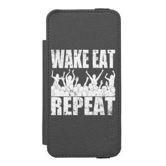 WAKE EAT ROCK REPEAT #2 (wht) Incipio Watson™ iPhone 5 Wallet Case