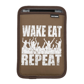 WAKE EAT ROCK REPEAT #2 (wht) iPad Mini Sleeve