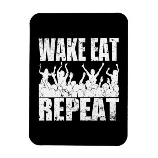 WAKE EAT ROCK REPEAT #2 (wht) Magnet