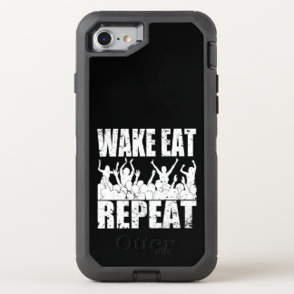 WAKE EAT ROCK REPEAT #2 (wht) OtterBox Defender iPhone 8/7 Case