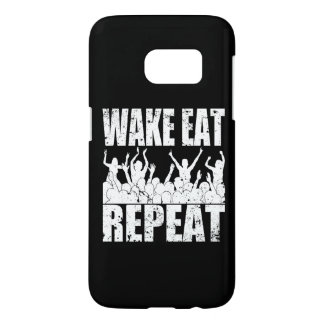 WAKE EAT ROCK REPEAT #2 (wht) Samsung Galaxy S7 Case