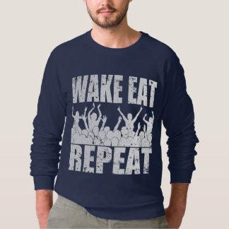 WAKE EAT ROCK REPEAT #2 (wht) Sweatshirt