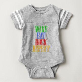 WAKE EAT ROCK REPEAT #3 BABY BODYSUIT