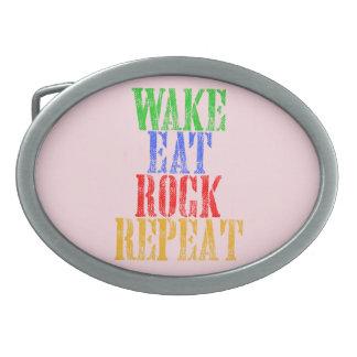 WAKE EAT ROCK REPEAT #3 BELT BUCKLES