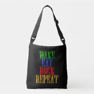 WAKE EAT ROCK REPEAT #3 CROSSBODY BAG