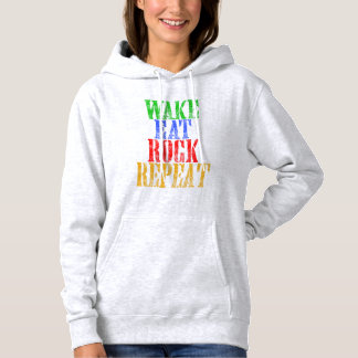 WAKE EAT ROCK REPEAT #3 HOODIE