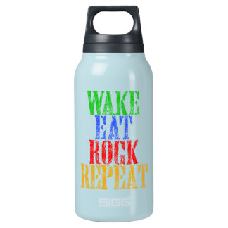 WAKE EAT ROCK REPEAT #3 INSULATED WATER BOTTLE
