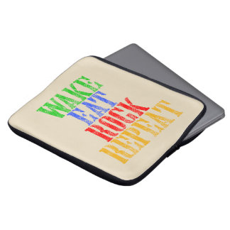 WAKE EAT ROCK REPEAT #3 LAPTOP SLEEVE