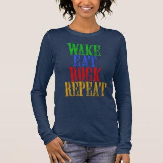 WAKE EAT ROCK REPEAT #3 LONG SLEEVE T-Shirt