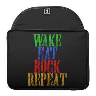WAKE EAT ROCK REPEAT #3 SLEEVE FOR MacBook PRO