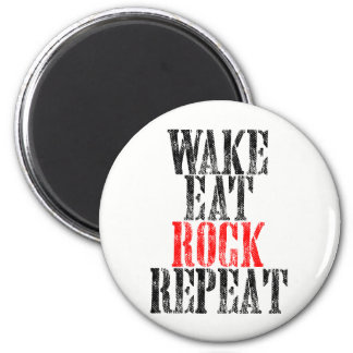 WAKE EAT ROCK REPEAT (blk) 2 Inch Round Magnet