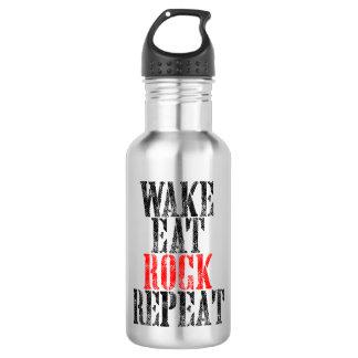 WAKE EAT ROCK REPEAT (blk) 532 Ml Water Bottle