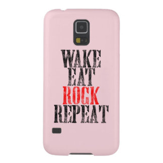 WAKE EAT ROCK REPEAT (blk) Case For Galaxy S5