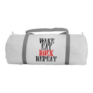 WAKE EAT ROCK REPEAT (blk) Gym Bag